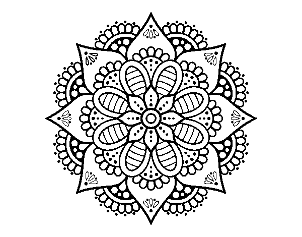 Desenho De Mandala De Flor De Primavera Para Colorir Colorir Com