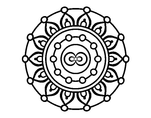 Desenho De Mandala Meditação Para Colorir