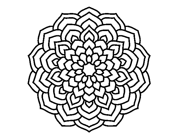 desenho de mandala pétalas de flores para colorir colorir com
