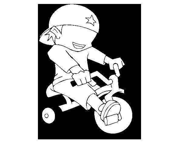 Desenho De Menino Em Triciclo Para Colorir Colorir Com