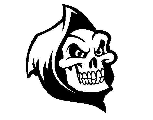 desenho de morte com capuz para colorir colorir com