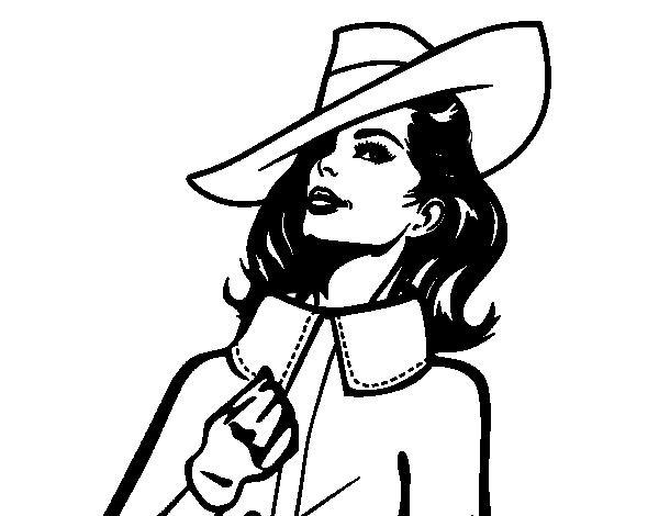 desenho de mulher sofisticada para colorir colorir com