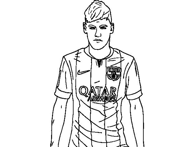 Desenho De Neymar Jr. Para Colorir