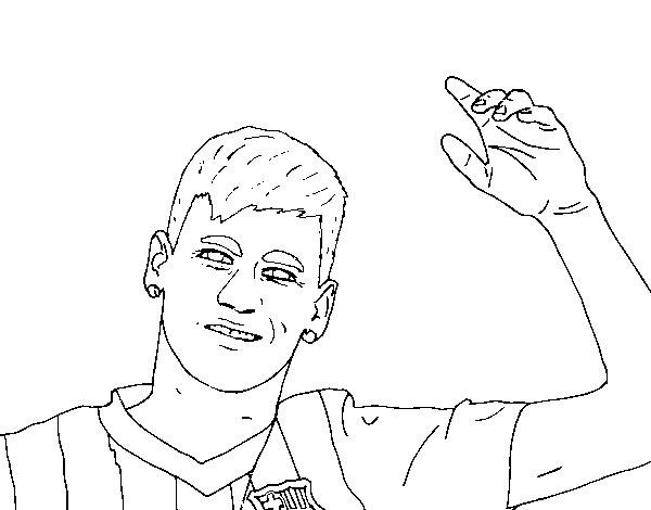 Desenho De Neymar Saudação Para Colorir