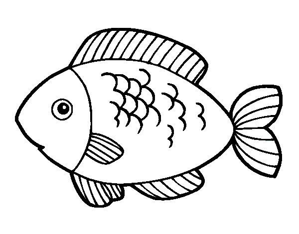 Desenho De Peixe Para Comer Para Colorir Colorir Com