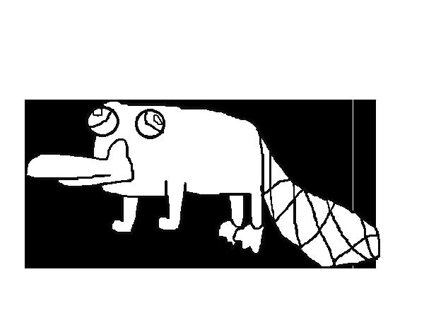 desenho de perry o ornitorrinco para colorir colorir com