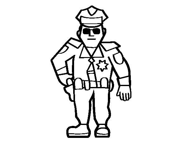 Desenho De Policia Municipal Para Colorir Colorir Com