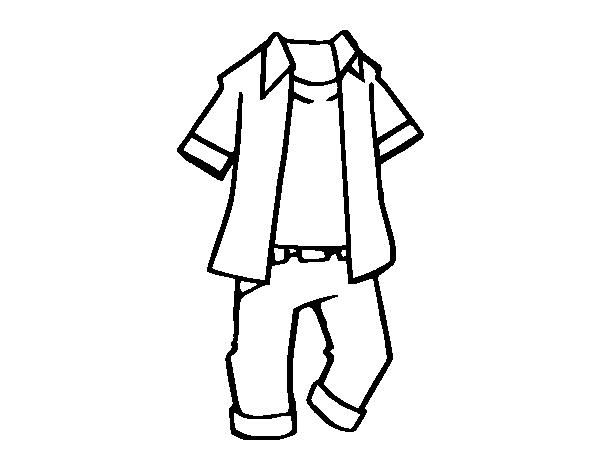 desenho de roupa de crianças para colorir colorir com