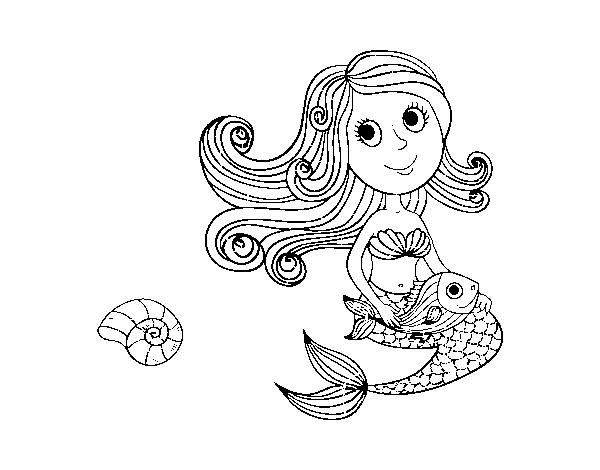 Desenhos Para Colorir Da Sereia