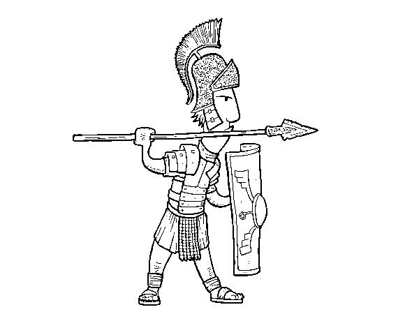 desenho de soldado romano em defesa para colorir colorir com