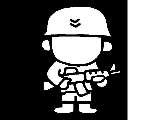 desenho de soldado para colorir colorir com