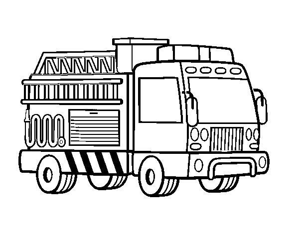 Desenho De Um Caminhao De Bombeiros Para Colorir Colorir Com