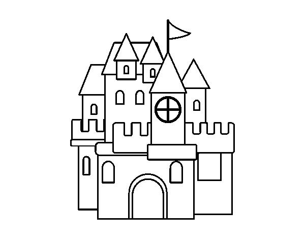desenho de um castelo para colorir colorir com