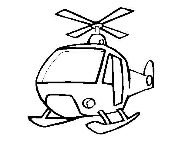 Desenho De Um Helicoptero Para Colorir